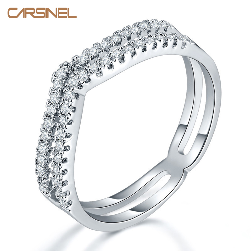 Hypoallergenic Wedding Rings: CARSINEL Hypoallergenic Copper Engagement Ring Fashion CZ