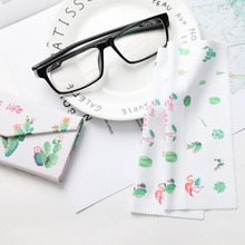3 pcs/lot High quality  Glasses Cleaner Flamingo 14*17cm Microfiber Cleaning Cloth For Lens Phone Screen Wipes