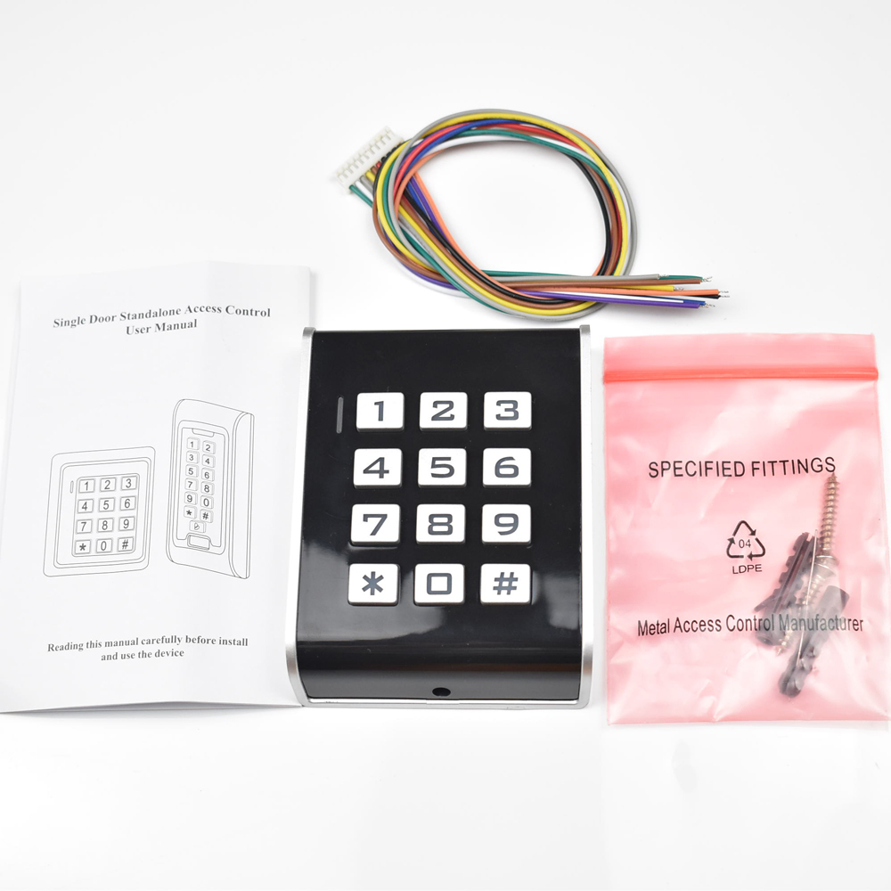 Rfid 125khz Access Control Keypad Contactless Door Controller Electric Security Lock wiegand 26 output with Luminous keyboard mini access control keypad em card wiegand 26 output input with rfid keyfobs 125khz for door lock security system