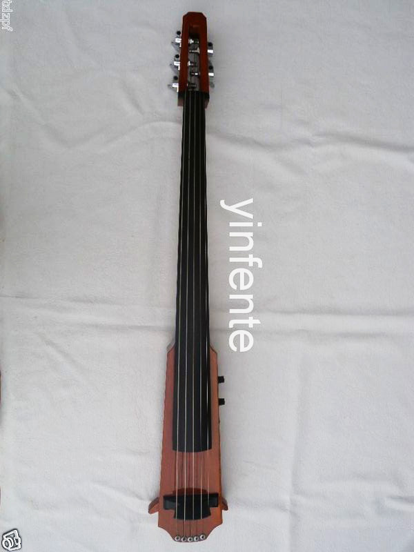 5 string 4/4 New Electric Cello Silent Powerful Sound Ebony Part Top Grade 001202 4 string black 3 4 new electric upright double bass finish silent powerful sound