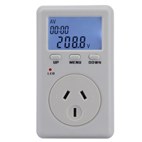 D02a الاتحاد الافريقي التوصيل المواصفات الرقمية عداد الطاقة الطاقة وات فولت مقياس تردد مصغرة الكهربائية الجهد محلل 90-280 فولت