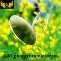 1.61 calidad lentes recetados miopía miopía gafas fotocromáticas rasguño anti uv protecion photogray lente gafas fotocromatici