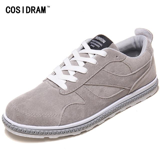 Moda Otoño Ocasionales de Los Hombres Atan Para Arriba Zapatos Talones Planos de Cuero de Gamuza Hombres Zapatos Nuevos 2016 Masculinos Respirable Cómodo Calzado RME-154