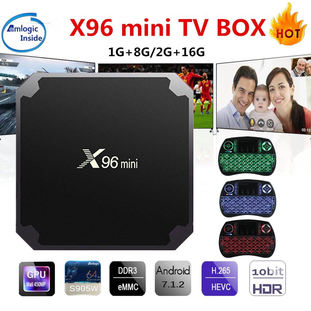 X96 mini Android TV Box Lecteur KD 17.4 Amlogic S905W Quad Core 2 GB 16 GB UHD H.265 2.4G WiFi 4 K Lecteur Multimédia X96mini Set top boîte