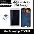 100% Test Original LCD for Samsung Galaxy E5 E500 LCD Display Digitizer Touch Screen Assembly White Color Replacement with Tools