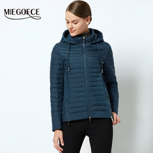 MIEGOFCE 2018 Spring Windproof Women's Thin Cotton Padded Jacket Women's Parka With a Hood Spring Collection of Jacket For Women