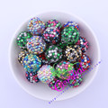 Free Shipping 20MM 100Pcs/Lot Mix Color Rhinestone Chunky Resin Rhinestone Beads For Colorful Necklace Jewelry # CDBD-601553