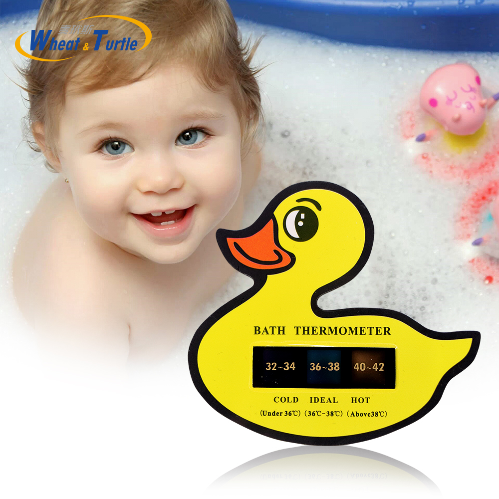 Cute Duck Pattern Babty Safety Care Bath Water Thermometer ABS Swim Pool Water Temperature Thermometer Lcd Digital Thermometer