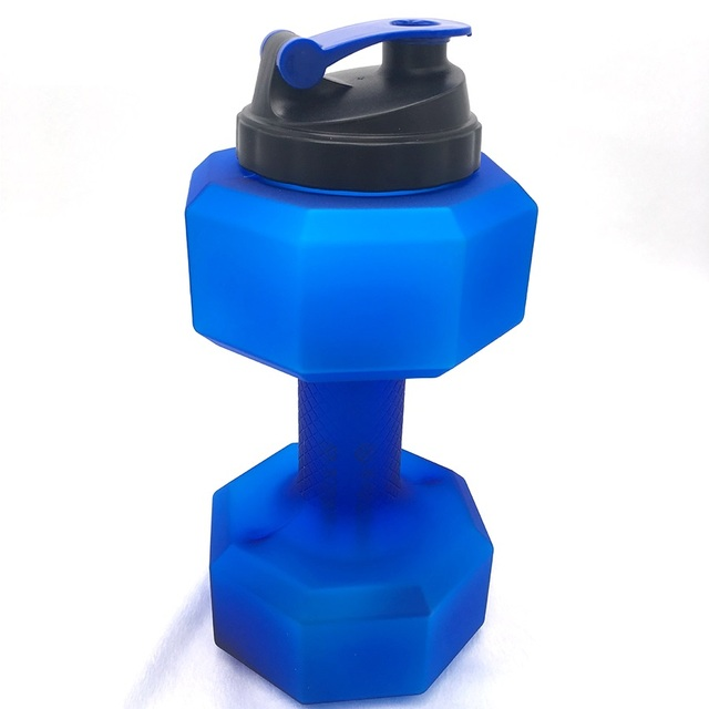 2 2L Dumbbell Water Kettle Large Plastic Capacity Sports Bottle Outdoor Portable Sport Dumbbell Traning Fitness