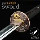 T10 Fijne metalen ambachten. Stereo met vis cutter in Japan. Katana, ninja films show real sword. metalen Collectie verjaardagscadeau
