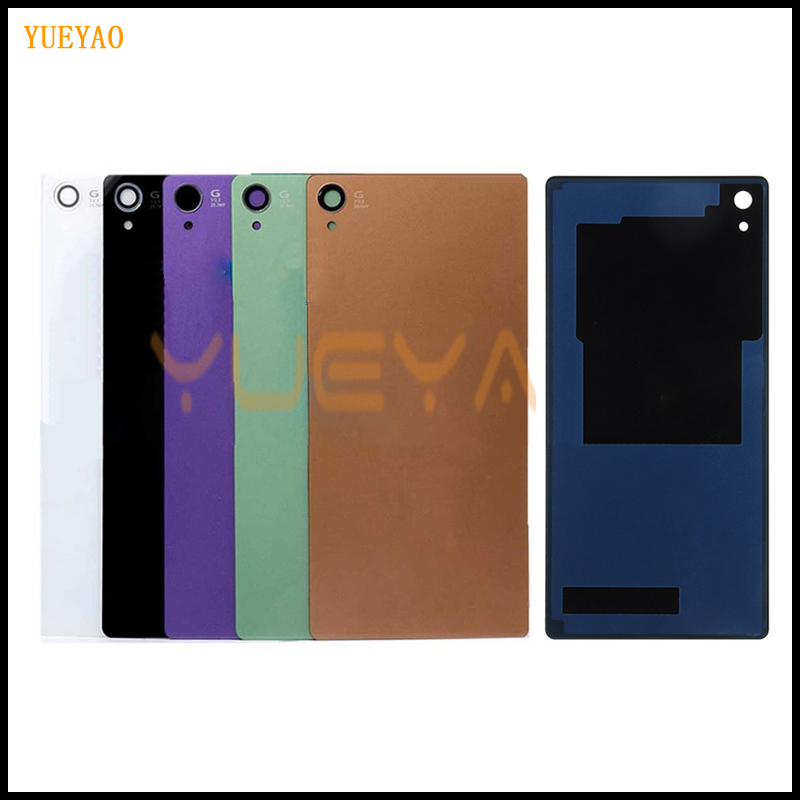 YUYEAO Z3 Back Glass Cover Battery Door For SONY XPERIA Z3 Back Cover L55T D6603 D6643 D6653 Rear Panel Housing Case(China)