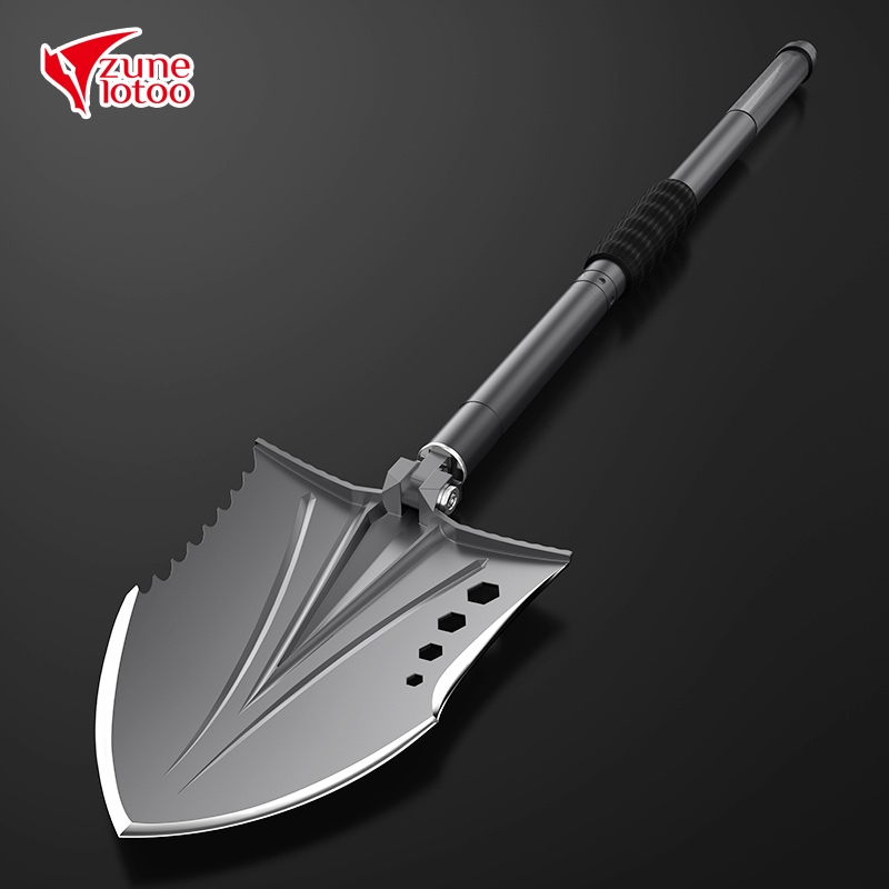 Zune Lotoo Crotalus Outdoor Survival Shovel, Folding Camping Equipment, Tactical Multitool, With Aluminum Case,For Emergency Car camping military survival shovel trowel multi function portable folding spade shovel dibble pick emergency tool equipment