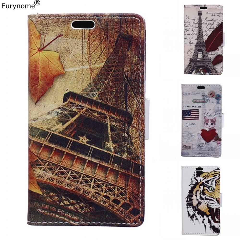 Luxury Retro Eiffel Tower Tiger Owl Wallet PU Leather Flip Card Slot Cover case For Motorola moto E5 Plus E5 Play Case with pen