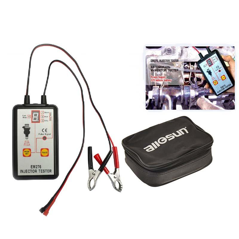 Tester per iniettori di carburante Analizzatore di sistema per pompe di carburante per autoveicoli 4 Modalità di impulso Manometro Allsun EM276