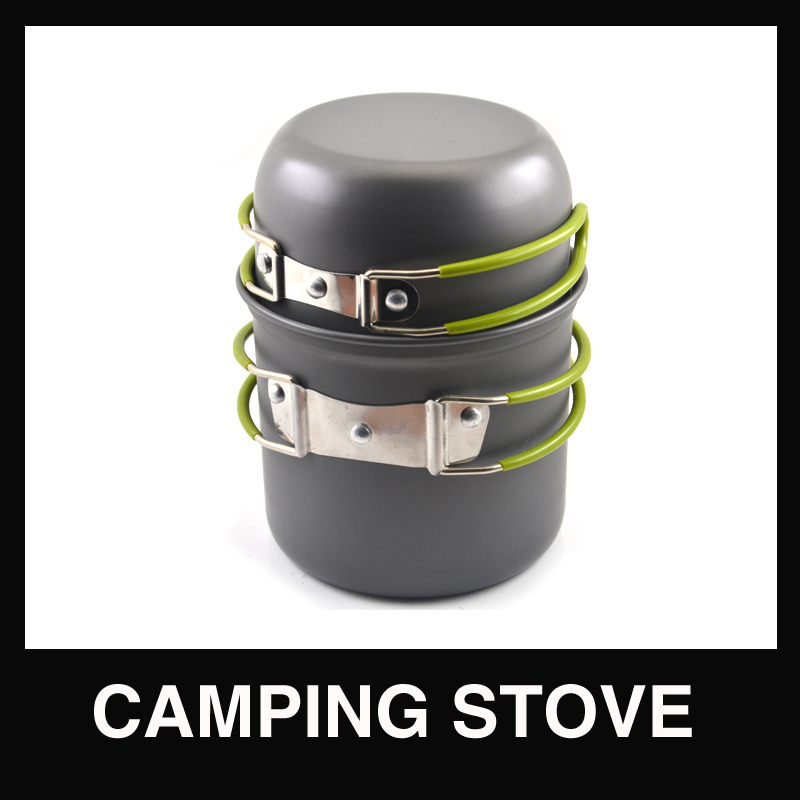 2pcs outdoor Picnic Camping Hiking Pot pan for 1 2 people used