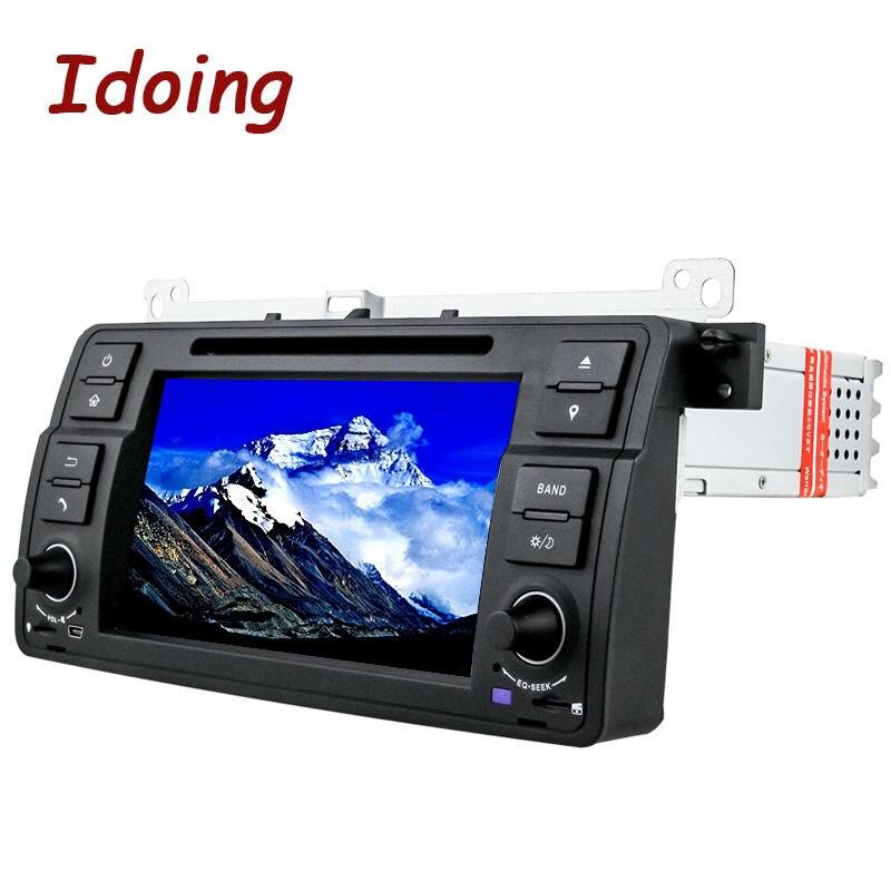 Idid 1Din volant pour BMW E46/320/325 Android 7.1 lecteur vidéo multimédia de voiture HD1080 écran tactile DVD GPS Navigation
