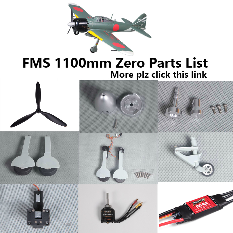 FMS 1100mm 1.1m Zero Fighter Parts Propeller Spinner Landing Gear Retract Motor Shaft Board Mount Etc RC Airplane Plane Aircraft