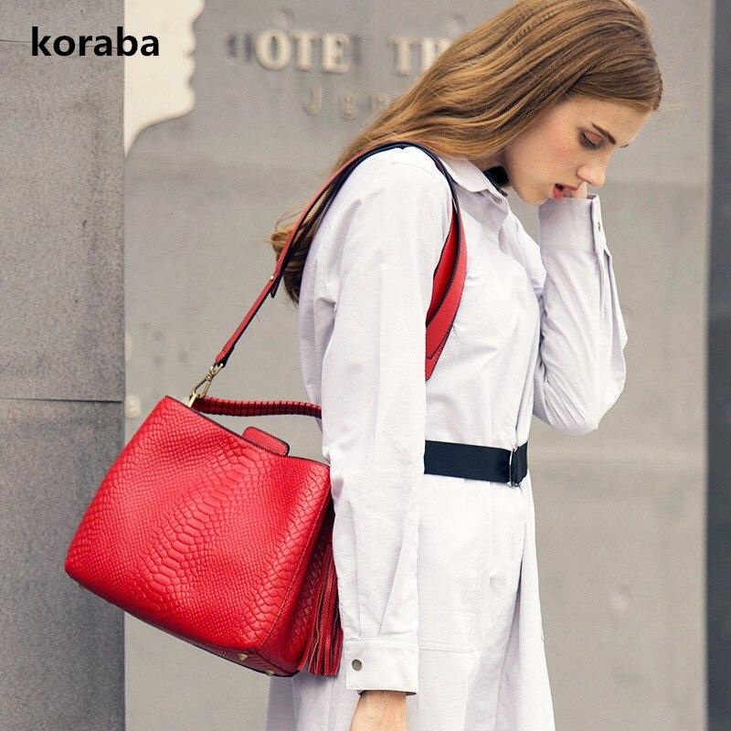 Фото Genuine Leather Bag Famous Brands Women Messenger Bags Women Handbags Designer High Quality Women Bag Shoulder Bag Tote Tassel