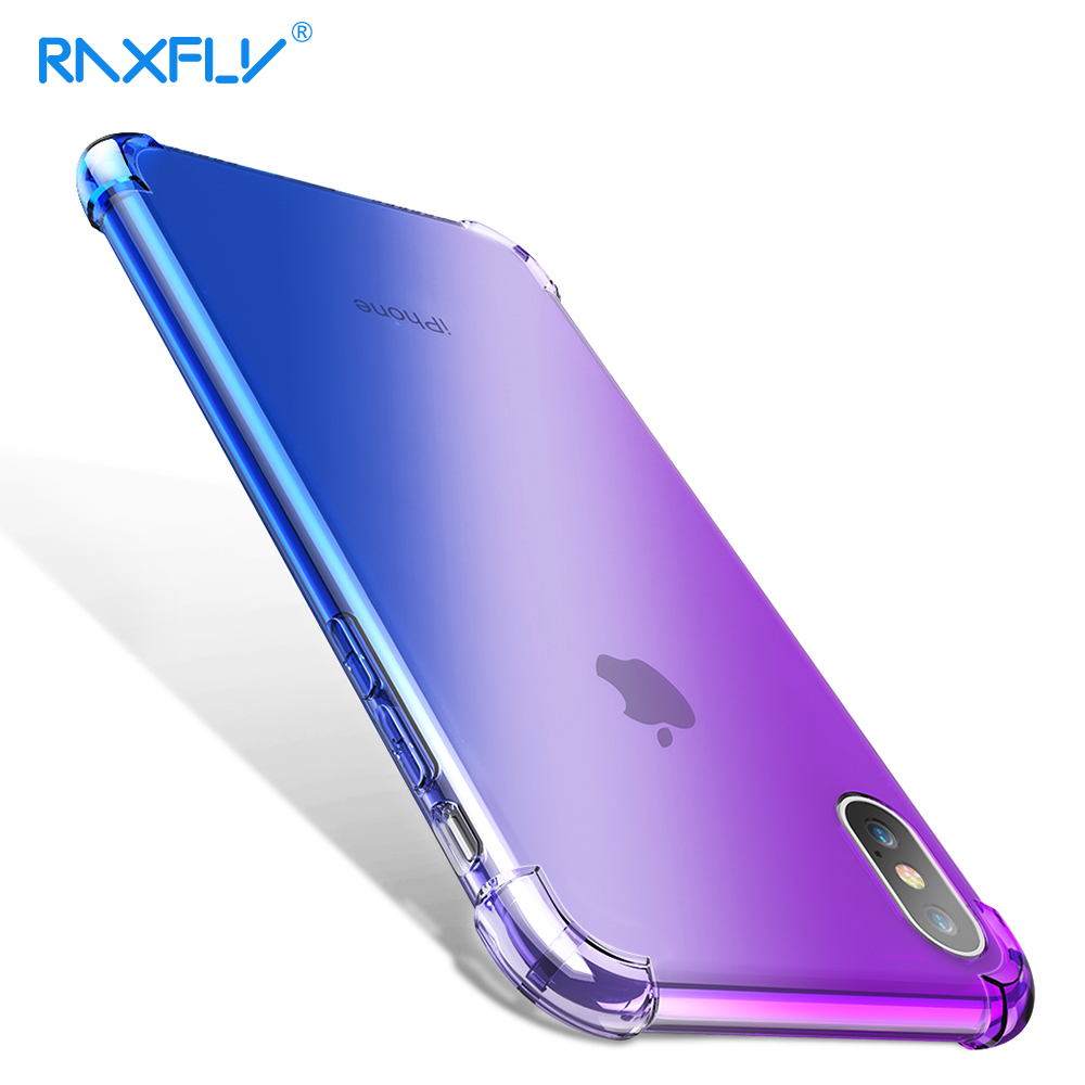RAXFLY <font><b>Case</b></font> for <font><b>iPhone</b></font> X XS Max <font><b>Cases</b></font> for <font><b>iPhone</b></font> XR <font><b>Changing</b></font> <font><b>Color</b></font> Anti-knock Soft Cover for <font><b>iPhone</b></font> 7 <font><b>8</b></font> <font><b>Plus</b></font> Full Protector Capa image