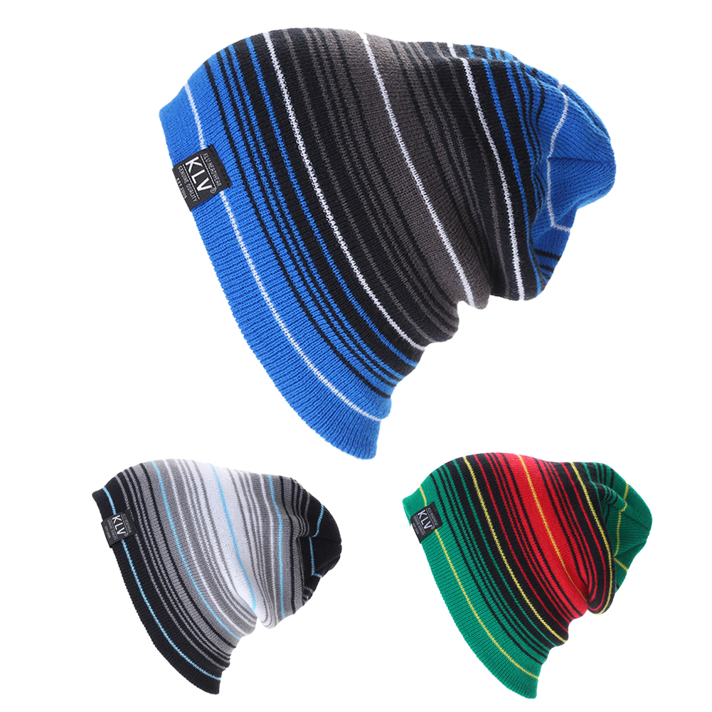 New Brand KLV   Beanies   Knitted Winter Caps   Skullies   Winter Hats For men women Outdoor Ski Sports   Beanie   Gorras Touca