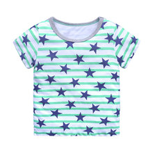 2019 Summer children t shirts, hot sale boy clothes, star pattern Short-sleeve T-shirt