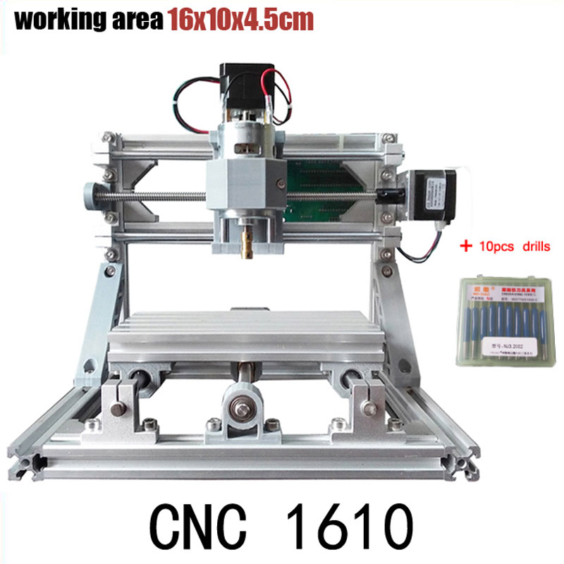 CNC 1610 GRBL control Diy mini CNC machine,working area 16x10x4.5cm,3 Axis Pcb Milling machine,Wood Router,cnc router ,v2.4 mini cnc milling router