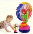 Primeros juguetes educativos Del Bebé del rompecabezas de tres colores noria rotación multi-funcional de bombeo de los niños juguetes musicales visual