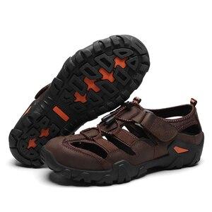 Image 4 - ZUNYU صندل عادي لينة جلد أصلي للرجال أحذية الصيف جديد كبير الحجم 38 48 رجل الصنادل موضة الرجال الصنادل النعال الصنادل