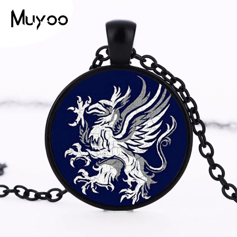 Dragon Age Logo Pendant Necklace Silver Plated Handmade Round Fasion