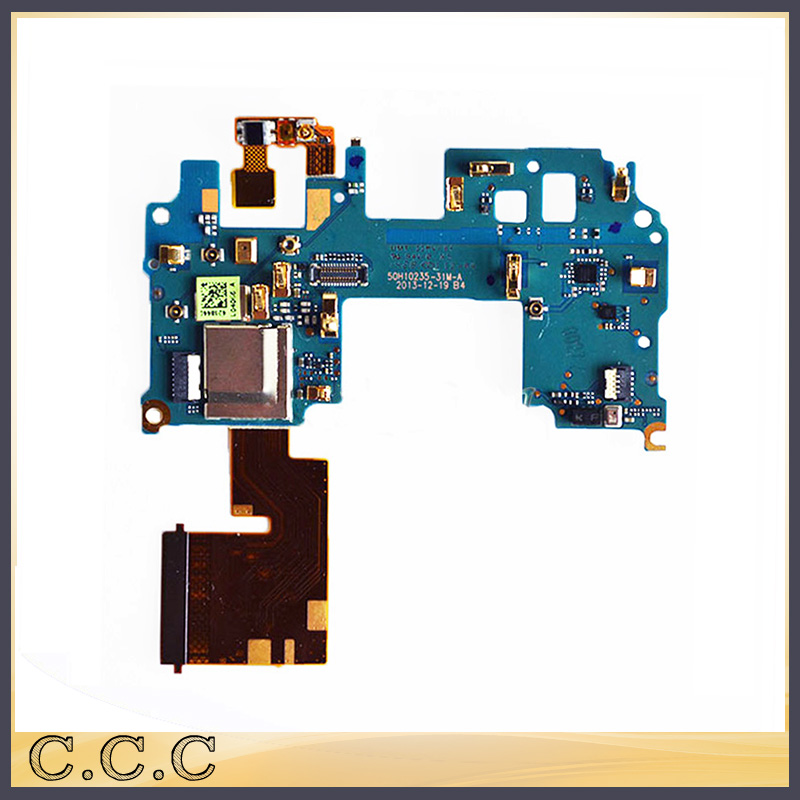 Original For HTC One M8 Mainboard Motherboard FPC Connector Main Flex Cable With Microphone Power Switch Module
