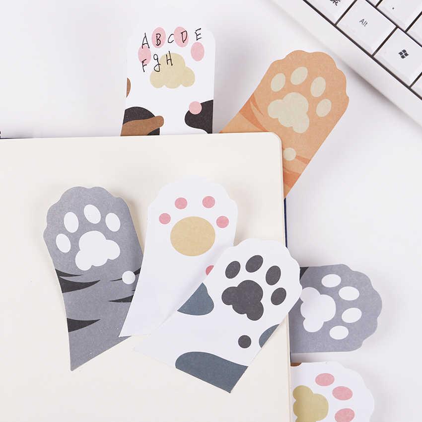 1 Mèo Paw Ghi Nhớ Notepad Sổ Tay Ghi Nhớ Miếng Lót Tự Dán Giấy Dán Ghi Chú Đánh Dấu Trang Quà Tặng Khuyến Mại Đồ Dùng Học Tập văn phòng phẩm
