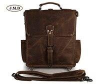 J M D Brand 100 Genuine Cow Leather Fashion Multifunction Brown Shoulder Bag Cross Body Bag