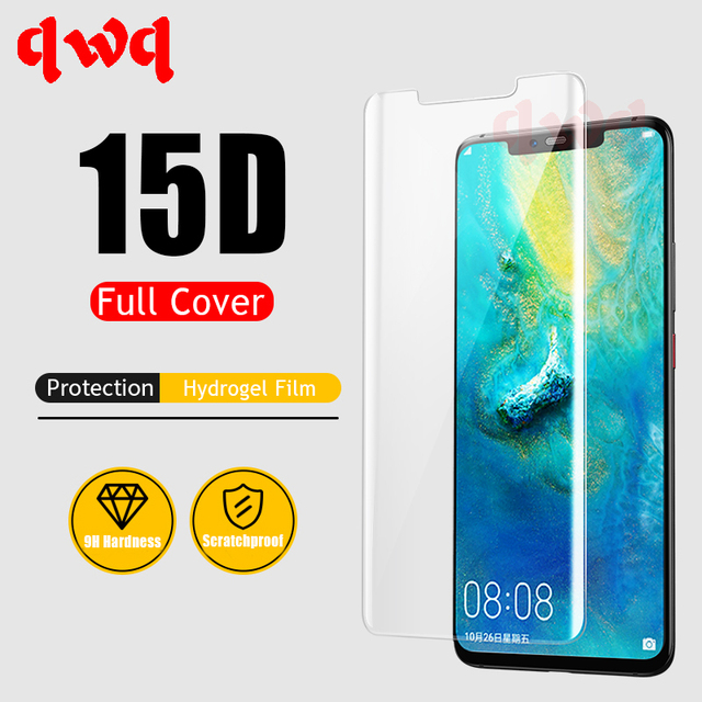 15D Full Cover Hydrogel Film For Huawei P30 Pro Mate 20 Lite Pro Screen Protector On The For Huawei P Smart 2019 2018 Soft Film