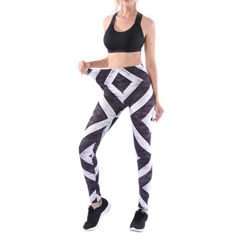 عالية الجودة النساء اللياقة البدنية طماق المطبوعة تجريب بناطيل ضيقة الصلبة Pantalon فام نحيل منتصف الخصر السراويل S-XL