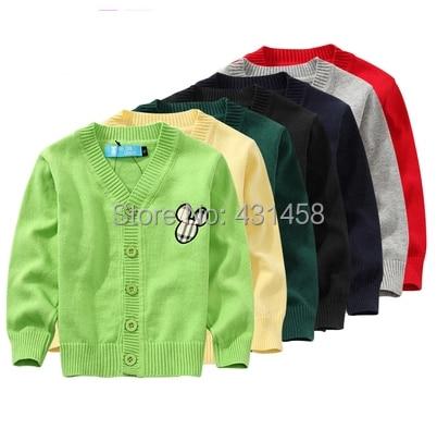 Бесплатная доставка осень Осень мальчик и девочка мультфильм Хлопок свитер пальто детская одежда