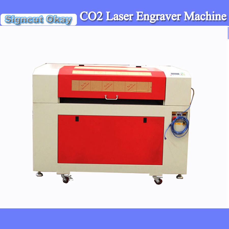 80W Laser Engraving Machine With Motorized Up And Down 600*900mm Working Table Size +Simple Rotary For Glass Bottle/glass Cup