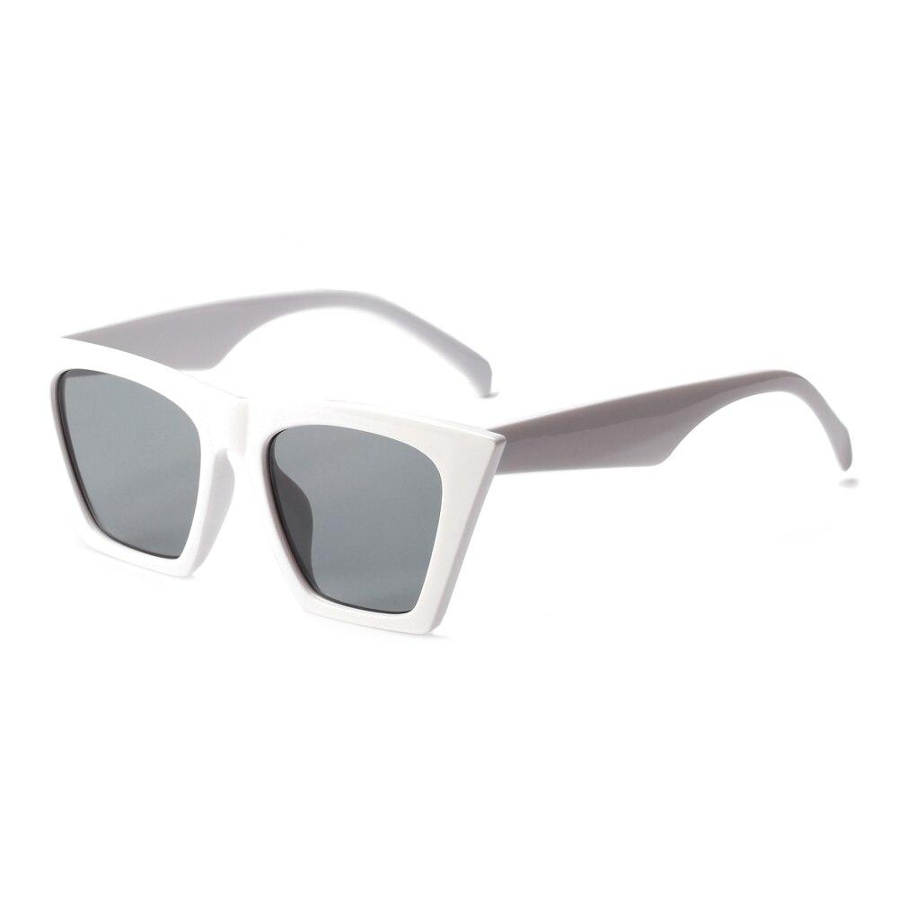 11efc500aa0961 Kiekeboe platte top cat eye zonnebril vrouwen merk designer 2018 rood wit  zwart goedkope zonnebril voor vrouwen mannen uv400 in Kiekeboe platte top  cat eye ...