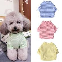 Одежда для домашних собак для маленьких собак летняя одежда для щенков зимний теплый жилет с принтом собачий Щенячий жилет футболка одежда для собак