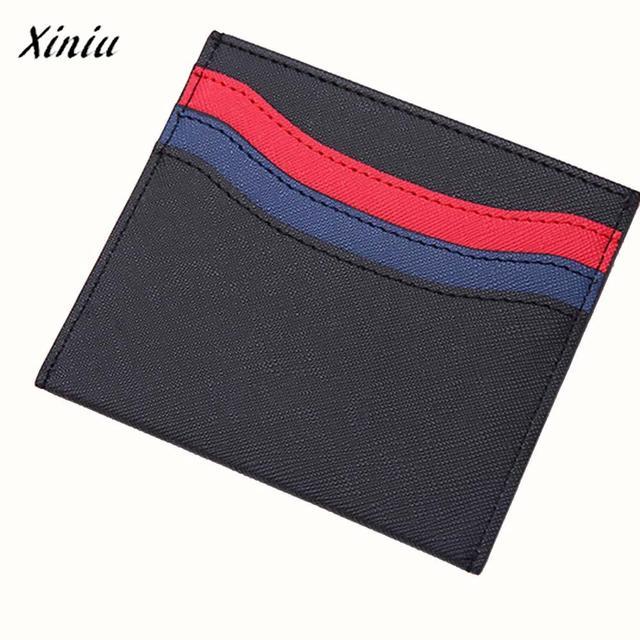 xiniu best selling men women hit color leather credit card holder case bus high quality vintage - Best Credit Card Holder