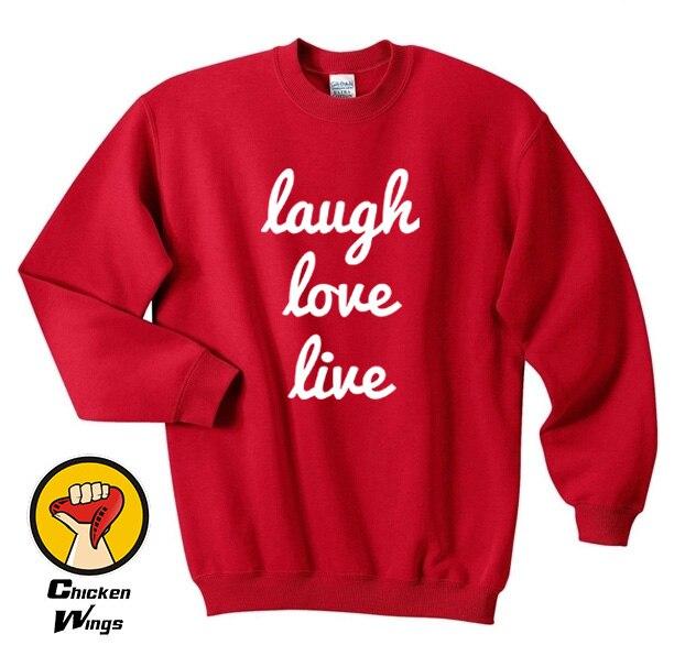 Unisex Live Laugh Love Decor Sweatshirts Crewneck