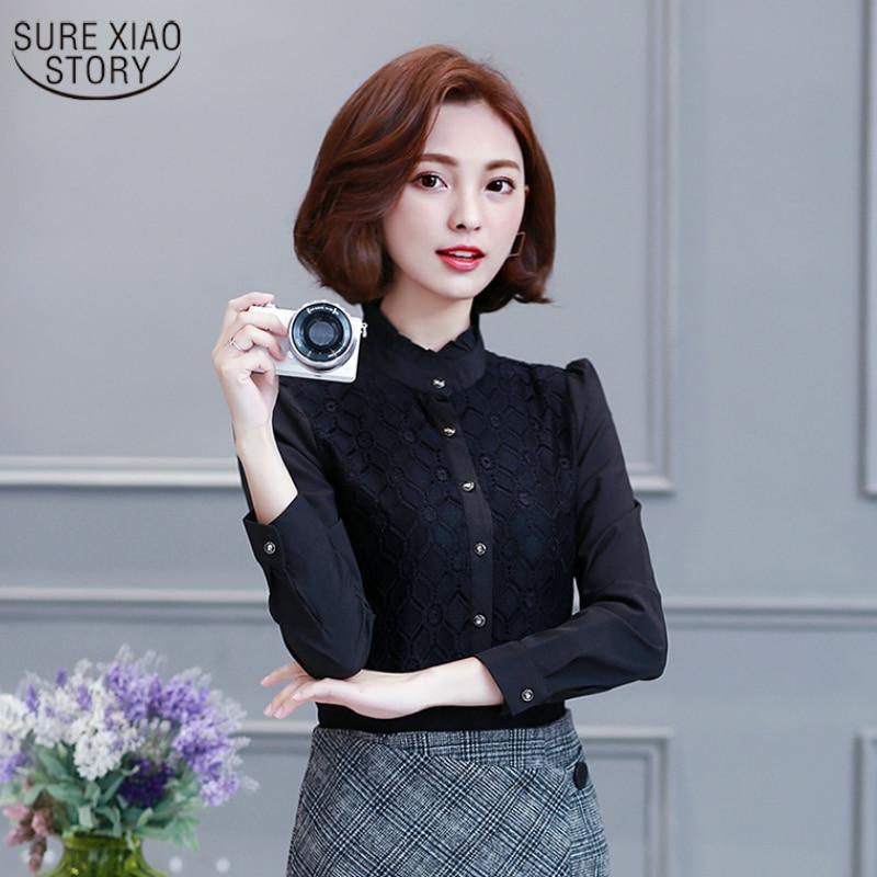 Shop2796165 Store 2017 Fashion Women Blouse Size S-3XL Office Lady Shirts Flower Pattern Turn Down Collar Sweet Lady White Shirts tops 227E 30