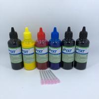 YOTAT 6pcs 100ml tinta Pigmentada para Canon PGI-150 PGI-250 PGI-450 PGI-550 PGI-650 PGI-270 PGI-470 PGI-570 PGI-670 PGI-770 CLI-771