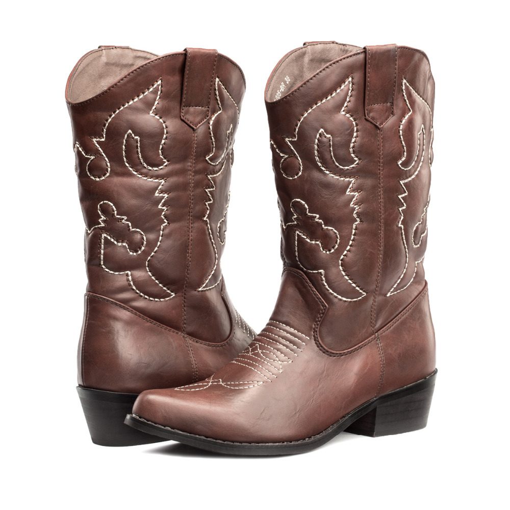 Online Shop LARA's 2015 New western cowboy boots for women mid ...