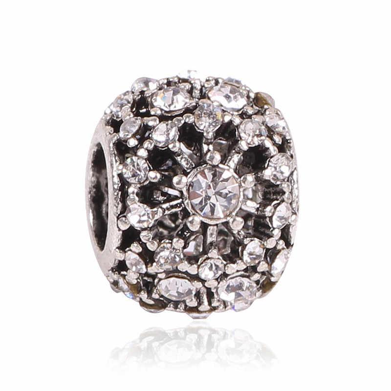 2019 Musim Panas 8 Warna Koleksi 925 Perak Asli Pesona Dingin Mint CZ Manik-manik Cocok Pandora Gelang DIY Perhiasan