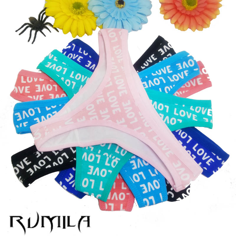 Cotton multi-color Sexy cozy comfortable Lace Briefs thongs women Underwear panties Lingerie for women 1pcs 87291