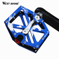 WEST BIKING Bike Pedals For Road MTB Bicycle 3 Bearings Anti Slip Cycling Pedals Alloy Platform