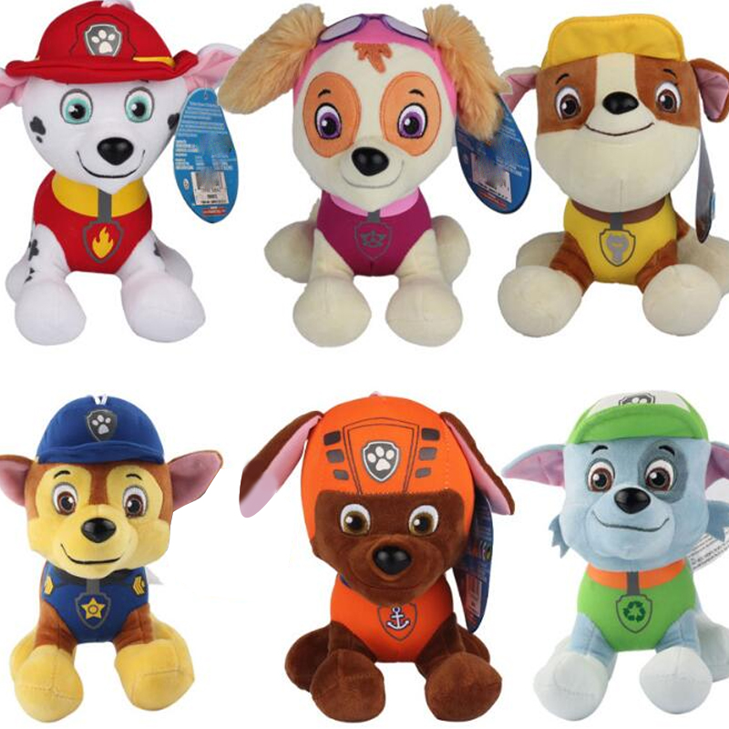 6 style for PAW Patrol Dog Anime Kids Toys Puppy Toy Action Figure Plush Doll Model Stuffed and Plush Animals Toy B88