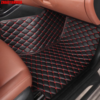 ZHAOYANHUA Car floor mats special for Audi A4 B5 B6 B7 B8 allraod Avant A3 A6 C6 C7 A7 A8 Q3 Q5 Q7 5D car styling carpet rugs