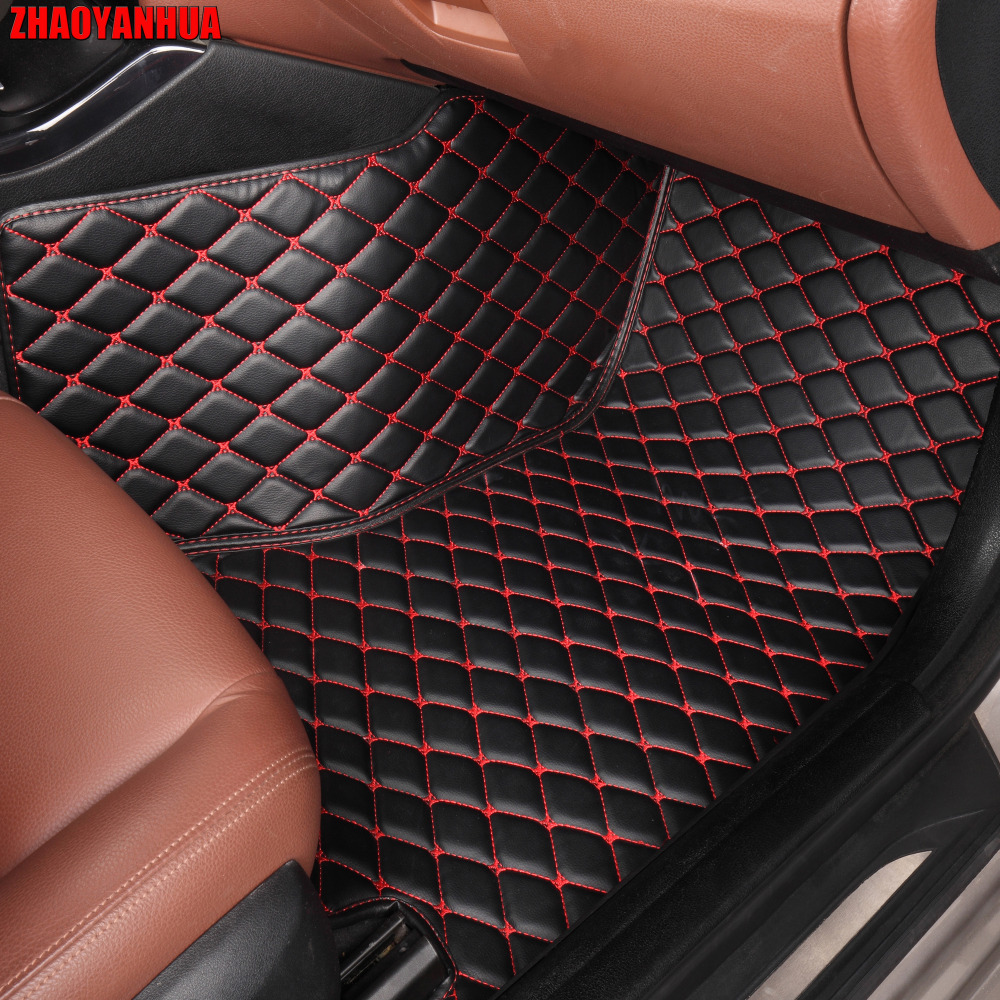 ZHAOYANHUA Car floor mats special for Audi A4 B5 B6 B7 B8 allraod Avant A3 A6 C6 C7 A7 A8 Q3 Q5 Q7 5D car styling carpet rugs цена