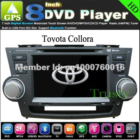 Toyota Highlander Kluger Car Dvd Player Gps In Dash Stereo